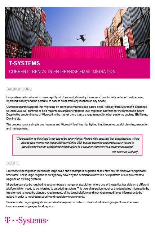 T-Systems – Email Migration Trends