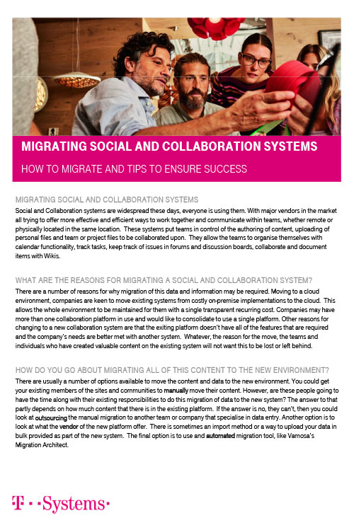 Migrating Social and Collaboration Systems