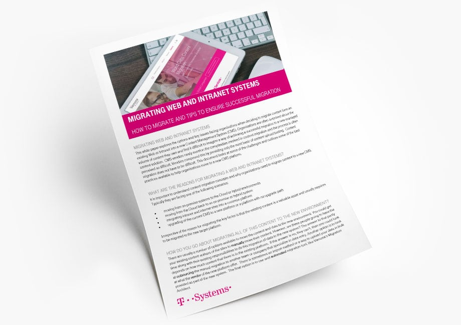 Migrating Web and Intranet Systems Whitepaper