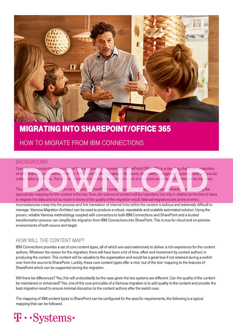 Migrating to SharePoint from IBM Connections Whitepaper -