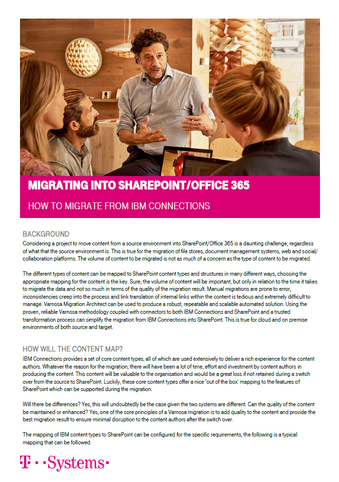 Migrating to SharePoint from IBM Connections Whitepaper