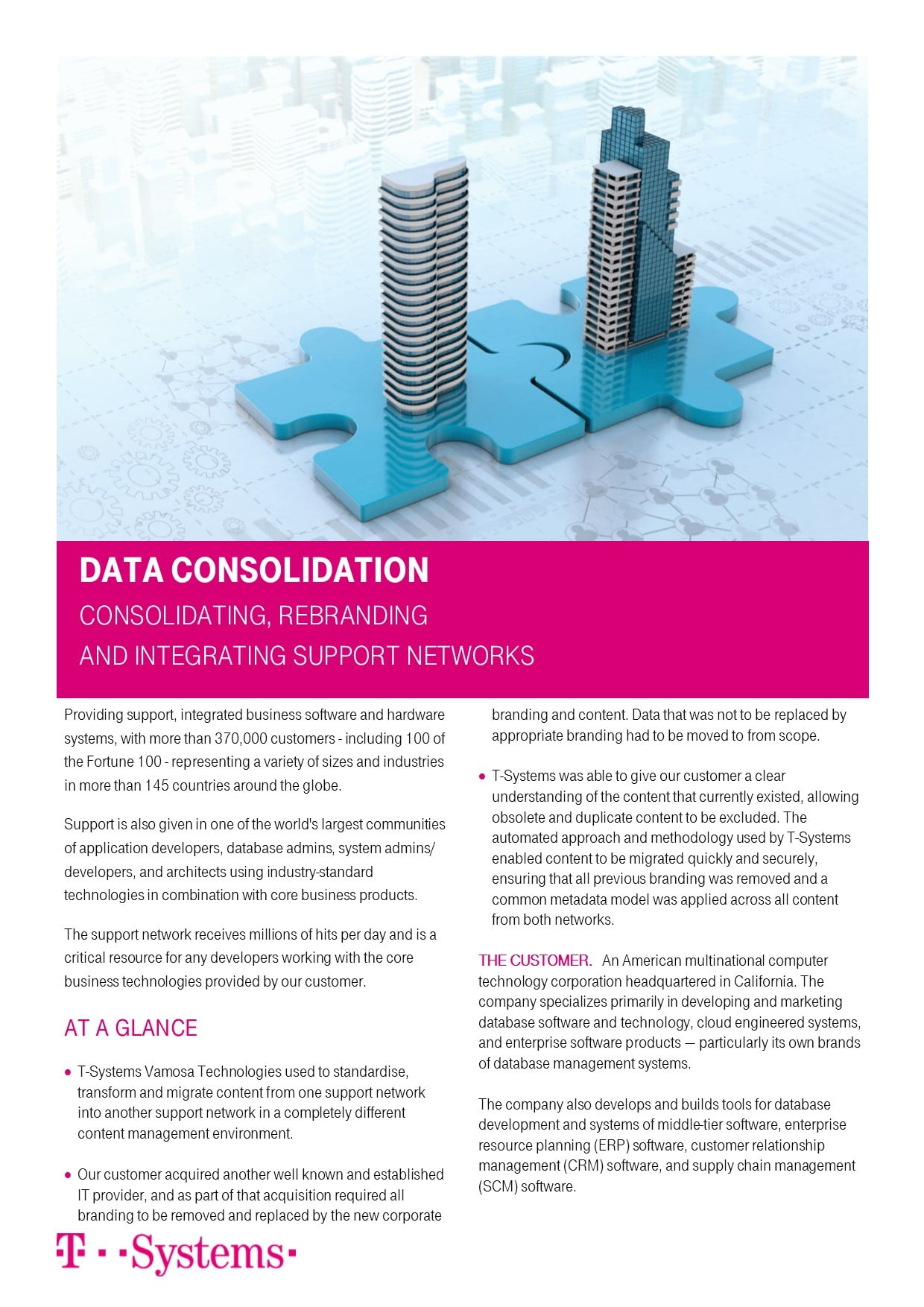 Case Study: Consolidating support networks