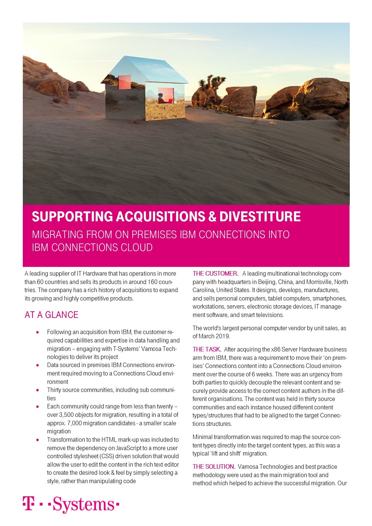 Case Study: Supporting Acquisitions and Divestitures