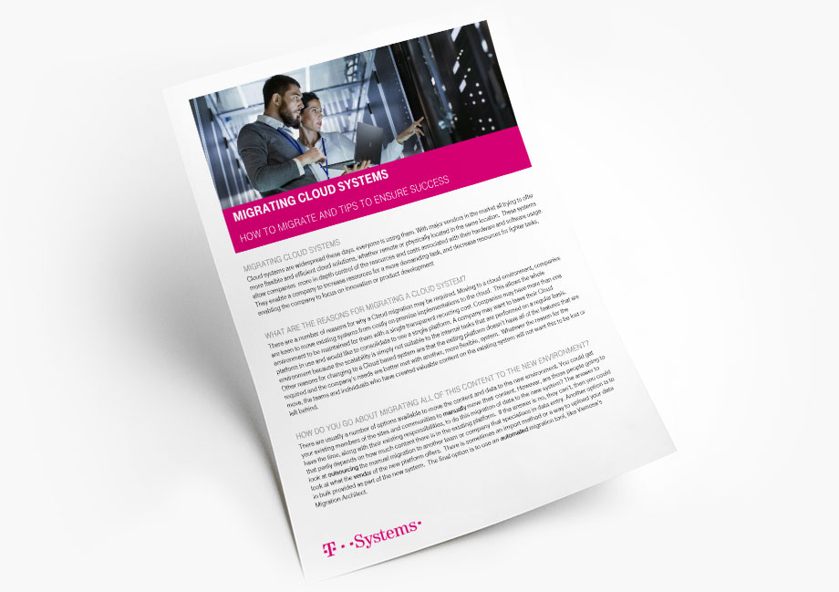 Download the Migrating Cloud Systems Whitepaper from Vamosa
