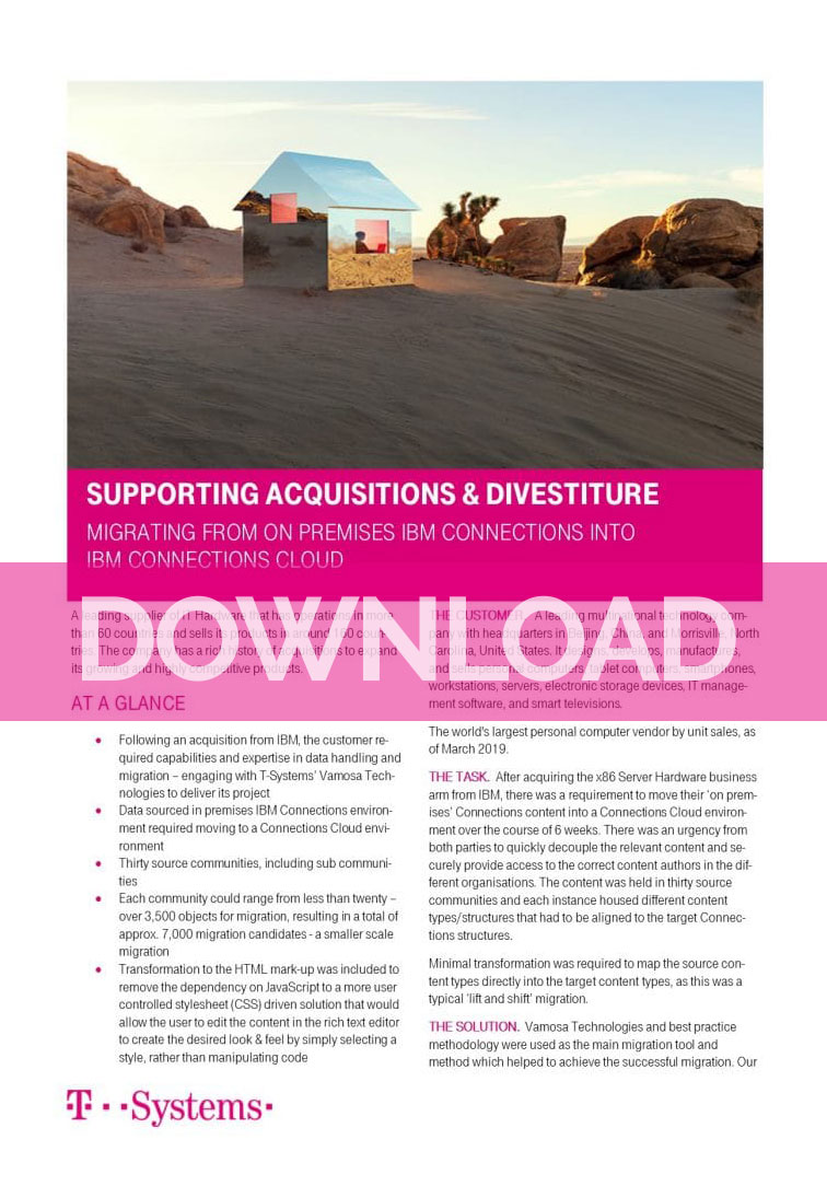 Supporting Acquisition & Divestiture